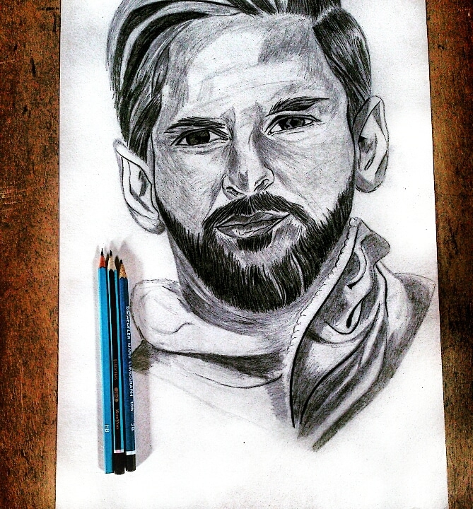 Lionel Messi by Atif